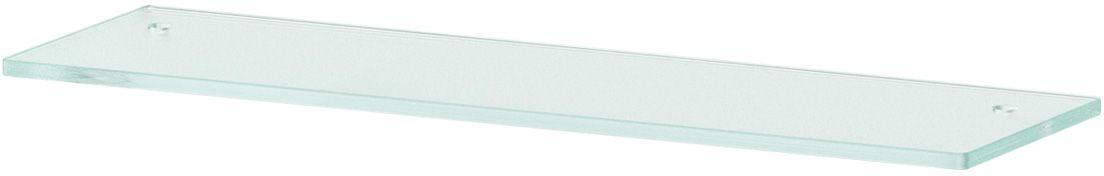 Полка для ванной Ellux, с отверстиями, 50 см, цвет: матовое стекло. ELU 029ELU 029Аксессуары торговой марки Ellux производятся на заводе ELLUX Gluck s.r.o., имеющем 20-летний опыт работы. Предприятие расположено в Злинском крае, исторически знаменитом своим промышленным потенциалом. Компоненты из всемирно известного богемского хрусталя выгодно дополняют серии аксессуаров. Широкий ассортимент, разнообразие форм, высочайшее качество исполнения и техническое?совершенство продукции отвечают самым высоким требованиям. Продукция завода Ellux представлена на российском рынке уже более 10 лет и за это время успела завоевать заслуженную популярность у покупателей, отдающих предпочтение дорогой и качественной продукции. 100% made in Czech Republic Весь цикл производства изделий осуществляется на территории Чешской республики. В производстве полок используется высококачественное матированное стекло марки Satinovo Mate Clear. Saint-Gobain Glass признанный мировой лидер в производстве высококачественного стекла, поэтому для производства стеклянных полок применяется...