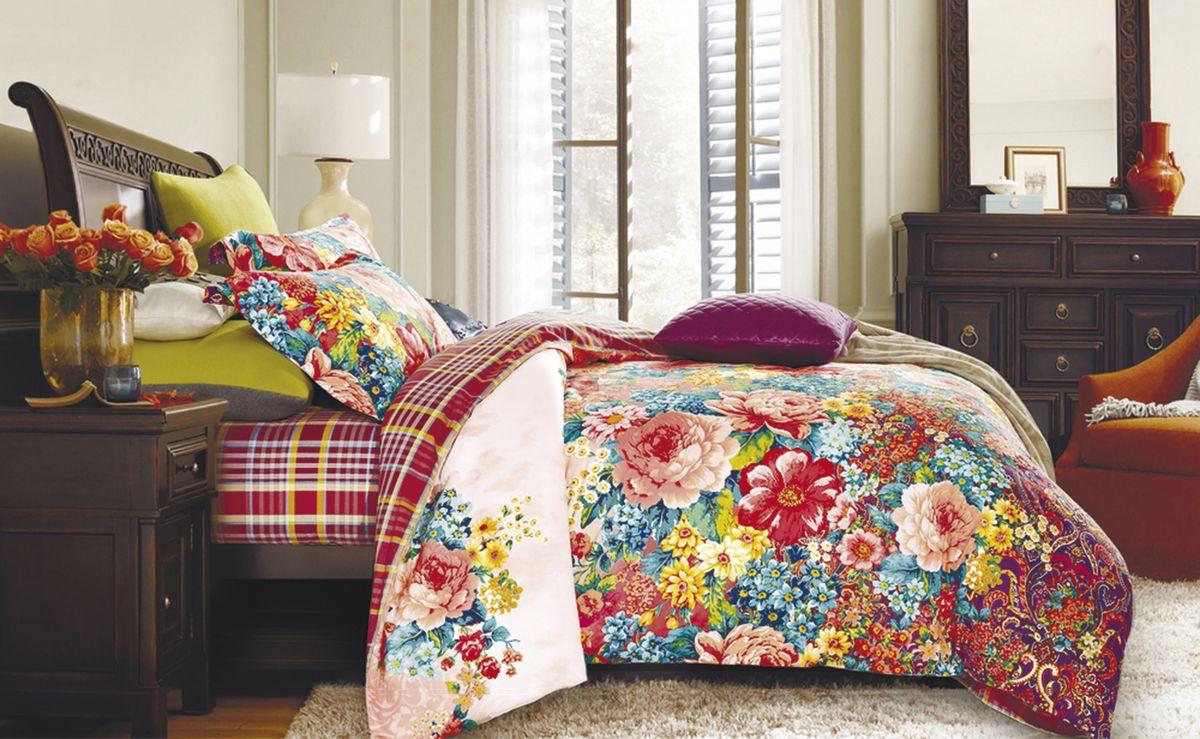Комплект белья Коллекция Цветочная поляна, 2-спальный, наволочки 50x70. СП2/50/ОЗ/цпСП2/50/ОЗ/цп