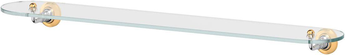 Полка для ванной 3SC Stilmar, 80 см, цвет: хром, золото. STI 116STI 116Дизайн коллекций компании 3SC оригинален и узнаваем. Цель дизайнеров — находить равновесие между эстетикой и функциональностью. Это обдуманная четкая философия, которая проходит через все процессы производства мастерской региона Тоскана.Многолетний опыт, воплощение социальных и культурных традиций, а также постоянный поиск новых решений?– все это сконцентрировано в коллекциях 3SC. Особенное внимание уделяется декоративной отделке изделий, которая выполнена умелыми руками настоящих итальянских мастеров. Разнообразие стилей позволяет удовлетворить различные вкусы клиента от «классики» до «хай-тек», давая возможность гармонично сочетать аксессуары с зеркалами и освещением.