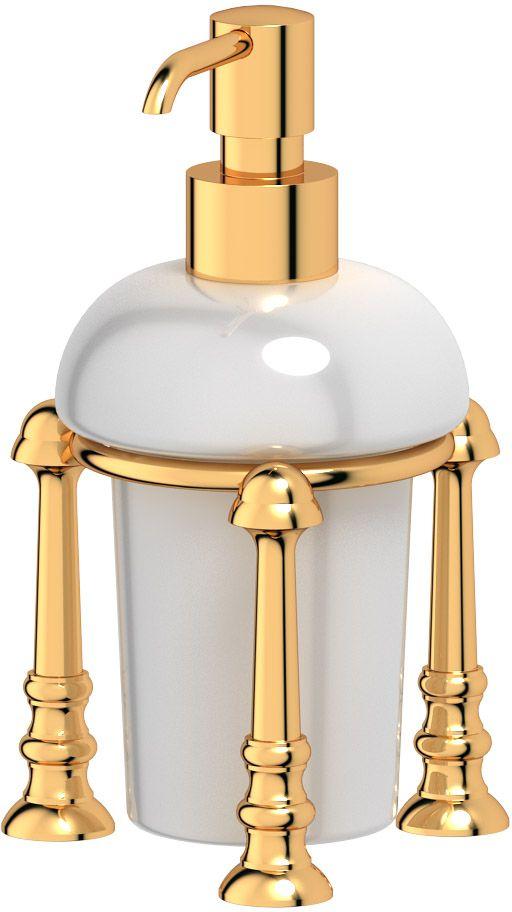 Емкость для жидкого мыла 3SC Stilmar Un, настольная, цвет: золото. STI 229STI 229Дизайн коллекций компании 3SC оригинален и узнаваем. Цель дизайнеров — находить равновесие между эстетикой и функциональностью. Это обдуманная четкая философия, которая проходит через все процессы производства мастерской региона Тоскана.Многолетний опыт, воплощение социальных и культурных традиций, а также постоянный поиск новых решений?– все это сконцентрировано в коллекциях 3SC. Особенное внимание уделяется декоративной отделке изделий, которая выполнена умелыми руками настоящих итальянских мастеров. Разнообразие стилей позволяет удовлетворить различные вкусы клиента от «классики» до «хай-тек», давая возможность гармонично сочетать аксессуары с зеркалами и освещением.