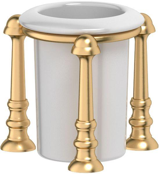 Стакан для ванной комнаты 3SC Stilmar Un, настольный, цвет: матовое золото. STI 327STI 327Дизайн коллекций компании 3SC оригинален и узнаваем. Цель дизайнеров — находить равновесие между эстетикой и функциональностью. Это обдуманная четкая философия, которая проходит через все процессы производства мастерской региона Тоскана.Многолетний опыт, воплощение социальных и культурных традиций, а также постоянный поиск новых решений?– все это сконцентрировано в коллекциях 3SC. Особенное внимание уделяется декоративной отделке изделий, которая выполнена умелыми руками настоящих итальянских мастеров. Разнообразие стилей позволяет удовлетворить различные вкусы клиента от «классики» до «хай-тек», давая возможность гармонично сочетать аксессуары с зеркалами и освещением.