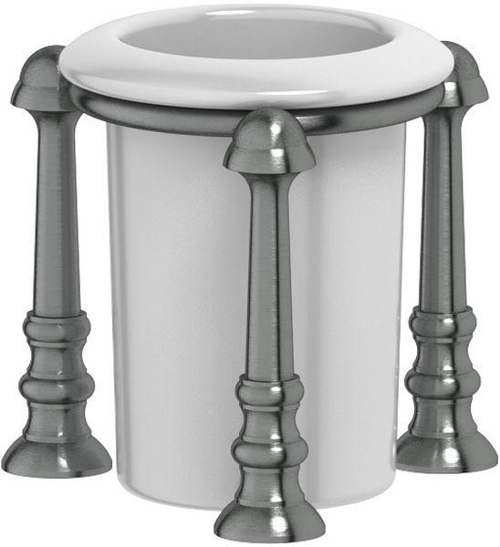 Стакан для ванной комнаты 3SC Stilmar Un, настольный, цвет: античное серебро. STI 427STI 427Дизайн коллекций компании 3SC оригинален и узнаваем. Цель дизайнеров — находить равновесие между эстетикой и функциональностью. Это обдуманная четкая философия, которая проходит через все процессы производства мастерской региона Тоскана.Многолетний опыт, воплощение социальных и культурных традиций, а также постоянный поиск новых решений?– все это сконцентрировано в коллекциях 3SC. Особенное внимание уделяется декоративной отделке изделий, которая выполнена умелыми руками настоящих итальянских мастеров. Разнообразие стилей позволяет удовлетворить различные вкусы клиента от «классики» до «хай-тек», давая возможность гармонично сочетать аксессуары с зеркалами и освещением.