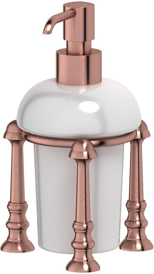 Емкость для жидкого мыла 3SC Stilmar Un, настольная, цвет: античная медь. STI 629STI 629В течение 20 лет компания Lineag разрабатывает и производит эксклюзивные аксессуары для ванной комнаты, используя современные технологии и высококачественные материалы. Каждый продукт Lineag произведен исключительно в Италии. Изысканный дизайн аксессуаров Lineag создает уникальную атмосферу уюта и роскоши в вашей ванной. Высококачественная латунь — дорогостоящий многокомпонентный медный сплав с основным легирующим элементом – цинком. Обладает высокой прочностью и коррозионной стойкостью. Считается лучшим материалом для изготовления аксессуаров, смесителей и другого сантехнического оборудования. Сделано из латуни. Латунь, используемая в производстве аксессуаров, обладает высокой прочностью и коррозионной стойкостью, и считается лучшим материалом для изготовления аксессуаров. Гарантия 12 лет. Высокое качество продукции позволяет производителю предоставлять 12-летнюю гарантию на изделия при условии их правильной эксплуатации. Произведено в Италии. Весь технологический цикл...
