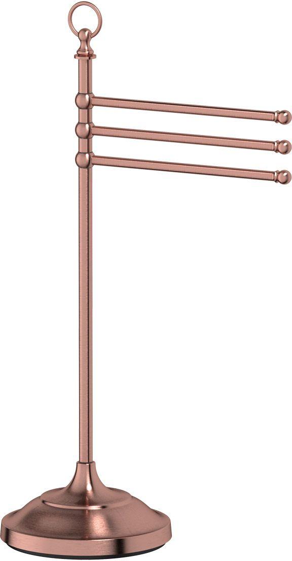 Стойка с держателем полотенец 3SC Stilmar Un, цвет: античная медь. STI 631STI 631В течение 20 лет компания Lineag разрабатывает и производит эксклюзивные аксессуары для ванной комнаты, используя современные технологии и высококачественные материалы. Каждый продукт Lineag произведен исключительно в Италии. Изысканный дизайн аксессуаров Lineag создает уникальную атмосферу уюта и роскоши в вашей ванной. Высококачественная латунь — дорогостоящий многокомпонентный медный сплав с основным легирующим элементом – цинком. Обладает высокой прочностью и коррозионной стойкостью. Считается лучшим материалом для изготовления аксессуаров, смесителей и другого сантехнического оборудования. Сделано из латуни. Латунь, используемая в производстве аксессуаров, обладает высокой прочностью и коррозионной стойкостью, и считается лучшим материалом для изготовления аксессуаров. Гарантия 12 лет. Высокое качество продукции позволяет производителю предоставлять 12-летнюю гарантию на изделия при условии их правильной эксплуатации. Произведено в Италии. Весь технологический цикл...
