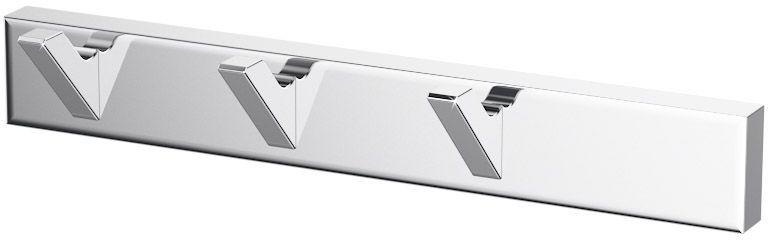 Планка с тремя крючками Lineag Tiffany, цвет: хром. TIF 002TIF 002В течение 20 лет компания Lineag разрабатывает и производит эксклюзивные аксессуары для ванной комнаты, используя современные технологии и высококачественные материалы. Каждый продукт Lineag произведен исключительно в Италии. Изысканный дизайн аксессуаров Lineag создает уникальную атмосферу уюта и роскоши в вашей ванной.