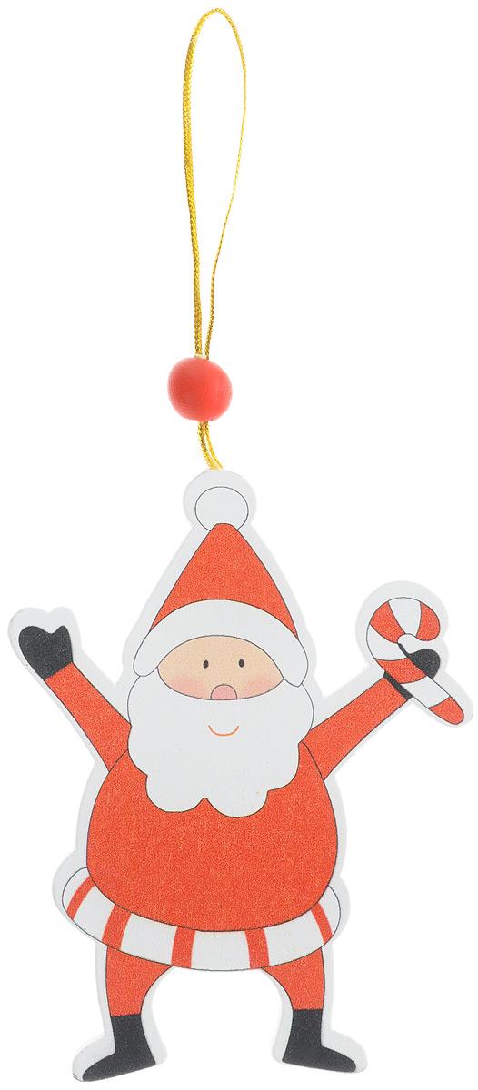 Новогоднее подвесное украшение Sima-land Веселый Дед мороз. 154262154262_Дед морозНовогоднее украшение Sima-land Веселый Дед мороз изготовлено из дерева отлично подойдет для декорации вашего дома и новогодней ели. Украшение оснащено специальной текстильной петелькой для подвешивания. Елочная игрушка - символ Нового года. Она несет в себе волшебство и красоту праздника. Такое украшение Веселый Дед мороз создаст в вашем доме атмосферу веселья и радости.