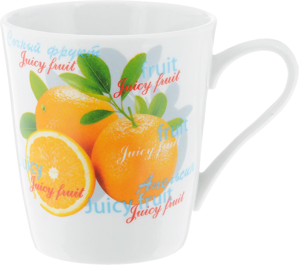 Кружка Классик. Апельсин и персик, 300 мл1333021_апельсин/персикКружка Классик. Апельсин и персик изготовлена из высококачественного фарфора. Изделие оформлено красочным рисунком и покрыто превосходной сверкающей глазурью. Изысканная кружка прекрасно оформит стол к чаепитию и станет его неизменным атрибутом. Диаметр кружки (по верхнему краю): 8,5 см. Высота стенок: 9,5 см.