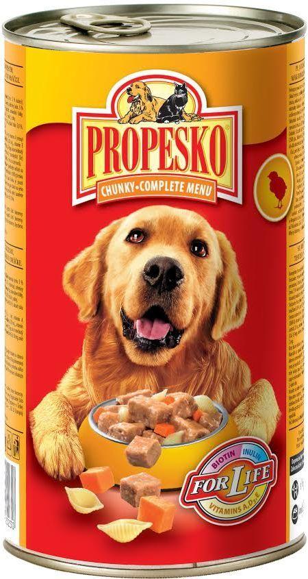 Консервы для собак Propesko, курица паста морковь, 1,24 кг14259