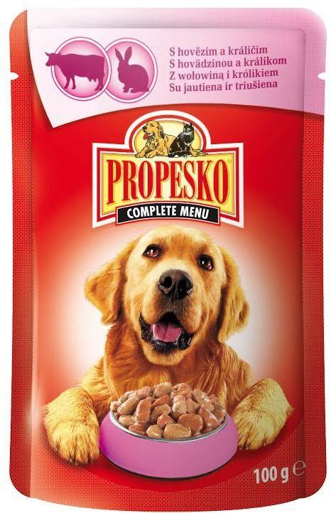 Консервы для собак Propesko, говядина кролик, 100 г14381