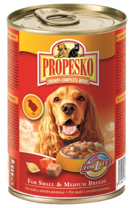 Консервы для собак Propesko, курица паста морковь, 415 г14519