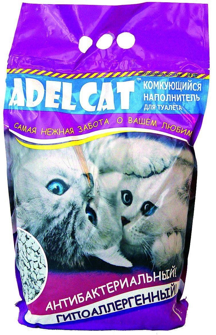 Наполнитель для кошачьего туалета Adel-Cat, комкующийся, 7 л990144Наполнитель Adel cat комкующийся 7л