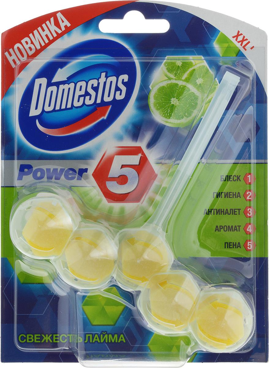 Блок для очищения унитаза Domestos Power 5. Свежесть лайма, 55 г67091917Подвесной блок Domestos Power 5. Свежесть лайма предназначен для очищения унитаза. Он обеспечивает чистоту и свежесть до 3 недель. Средство образует обильную пену, предотвращает известковый налёт, борется с неприятными запахами и микробами, обеспечивает длительный аромат лайма. Для достижения максимального эффекта поместите продукт в место наиболее сильного потока воды при смыве. Туалетный блок для унитаза Domestos Power 5 - это сила пяти компонентов. Товар сертифицирован.