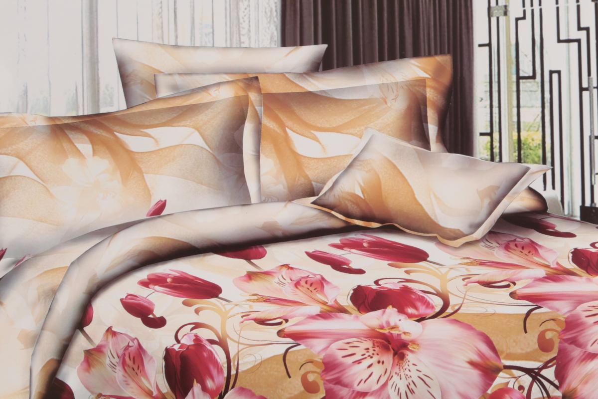 Комплект белья ЭГО Фантазия, 1,5-спальный, наволочки 70x70Э-2036-01Комплект постельного белья ЭГО Фантазия выполнен из полисатина (50% хлопка, 50% полиэстера). Комплект состоит из пододеяльника, простыни и двух наволочек. Постельное белье, оформленное цветочным принтом, имеет изысканный внешний вид и яркую цветовую гамму. Наволочки застегиваются на клапаны. Гладкая структура делает ткань приятной на ощупь, мягкой и нежной, при этом она прочная и хорошо сохраняет форму. Ткань легко гладится, не линяет и не садится. Благодаря такому комплекту постельного белья вы сможете создать атмосферу роскоши и романтики в вашей спальне.