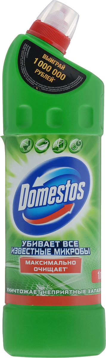 Средство универсальное чистящее Domestos Хвойная свежесть, 1 л67046685Гсредство с густой формулой Максимально очищает Уничтожает неприятные запахи Убивает бактерии, грибки, вирусы и споры Универсальное средство для всего дома: очищение и дезинфекция туалета, ванны, раковины, плитки, рабочих поверхностей на кухне, а также полов Помогает справиться с засорами на кухне и в ванной Продукция Domestos представлена в сегментах рынка чистящих средств: в чистящих гелях, туалетных блоках, универсальных спреях, средств для удаления засоров и известкового налета, и сейчас находится на гребне волны потребительского спроса.Domestos сам был родоначальником этих сегментов, выпустив на рынок России первый чистящий гель в 1997 г, который используется для чистки и дезинфекции туалета, больших поверхностей и т.д. В отличие от товаров конкурентов, только Domestos гель обеспечивает 100% уничтожение опасных микробов (включая грибок), настоящую гигиену дома и предотвращает различные кишечные заболевания, которые могут быть вызваны этими...