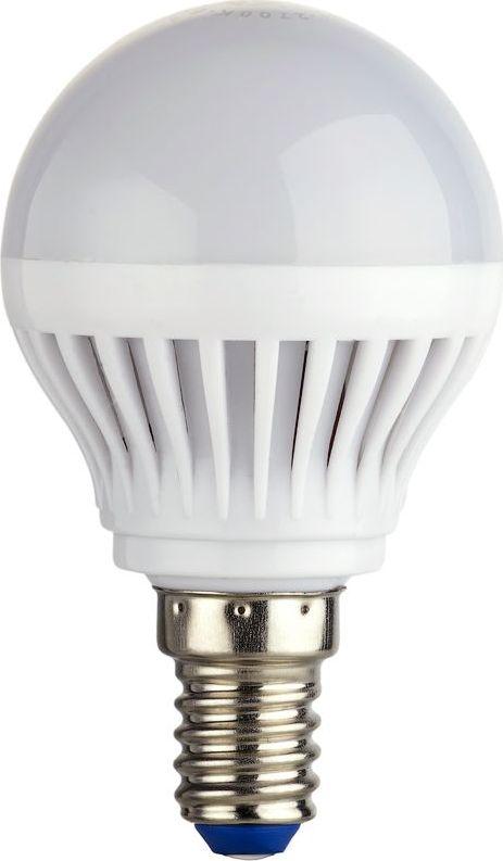 Лампа светодиодная REV, теплый свет, цоколь Е14, 5W. 32260 332260 3Энергосберегающая светодиодная лампа шаровидной формы теплого свечения. Потребляемая мощность 5Вт. Интенсивность свечения аналогична обычной лампе накаливания мощностью 40Вт. Цоколь Е14. Срок службы 30000 час. Световой поток 450Лм, цветовая температура 2700К. Гарантия 24 месяца.