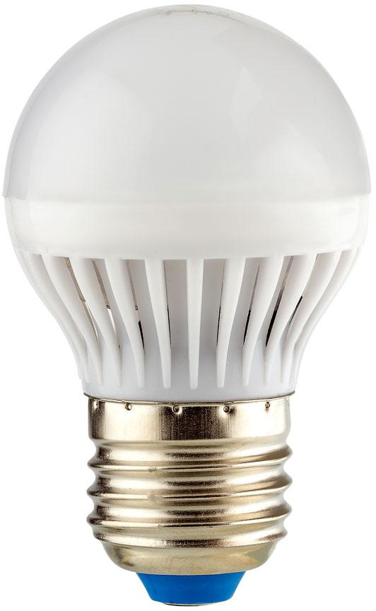 Лампа светодиодная REV, теплый свет, цоколь Е27, 5W. 32262 732262 7Энергосберегающая светодиодная лампа шаровидной формы теплого свечения. Потребляемая мощность 5Вт. Интенсивность свечения аналогична обычной лампе накаливания мощностью 40Вт. Цоколь Е27. Срок службы 30000 час. Световой поток 450Лм, цветовая температура 2700К. Гарантия 24 месяца.