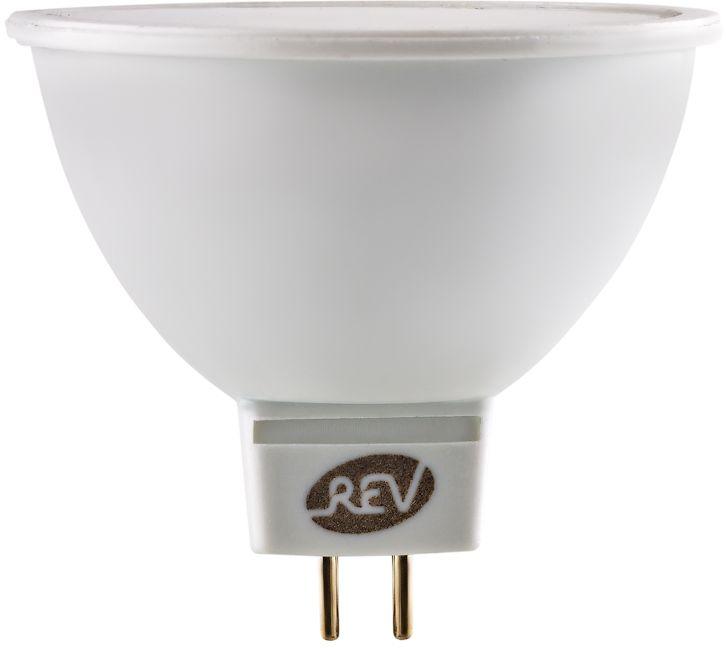 Лампа светодиодная REV, теплый свет, цоколь GU5.3, 7W. 32324 232324 2Энергосберегающая светодиодная лампа в форме MR16 теплого свечения. Потребляемая мощность 7Вт. Интенсивность свечения аналогична обычной лампе накаливания мощностью 60Вт. Цоколь GU5.3. Срок службы 30000 час. Световой поток 600Лм, цветовая температура 3000К. Гарантия 24 месяца.