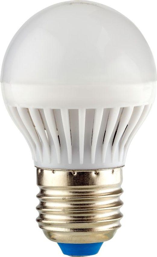 Лампа светодиодная REV, холодный свет, цоколь E27, 7W. 32343 332343 3Энергосберегающая светодиодная лампа шаровидной формы холодного свечения. Потребляемая мощность 7Вт. Интенсивность свечения аналогична обычной лампе накаливания мощностью 60Вт. Цоколь Е27. Срок службы 30000 час. Световой поток 600Лм, цветовая температура 4000К. Гарантия 24 месяца.
