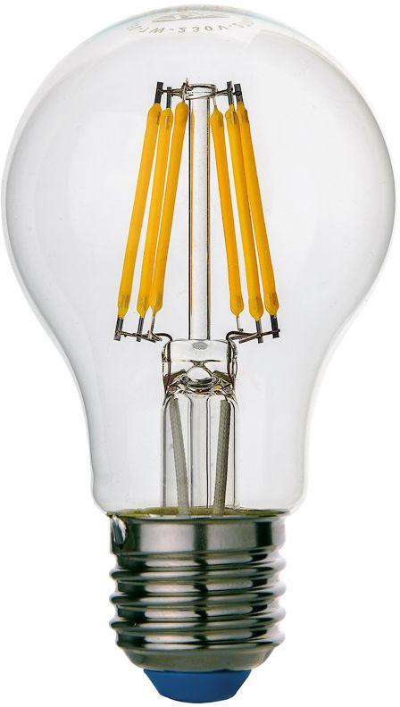 Лампа светодиодная REV Premium Filament, теплый свет, цоколь E27, 6W32353 2Энергосберегающая светодиодная лампа грушевидной формы теплого свечения. Потребляемая мощность 6Вт. Интенсивность свечения аналогична обычной лампе накаливания мощностью 50Вт. Цоколь Е27. Срок службы 30000 час. Световой поток 540Лм, цветовая температура 2700К. Гарантия 24 месяца.
