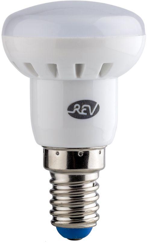Лампа светодиодная REV, холодный свет, цоколь E14, 3W. 32362 432362 4Энергосберегающая светодиодная лампа в форме R39 холодного свечения. Потребляемая мощность 3Вт. Интенсивность свечения аналогична обычной лампе накаливания мощностью 25Вт. Цоколь E14. Срок службы 30000 час. Световой поток 250Лм, цветовая температура 4000К. Гарантия 24 месяца.