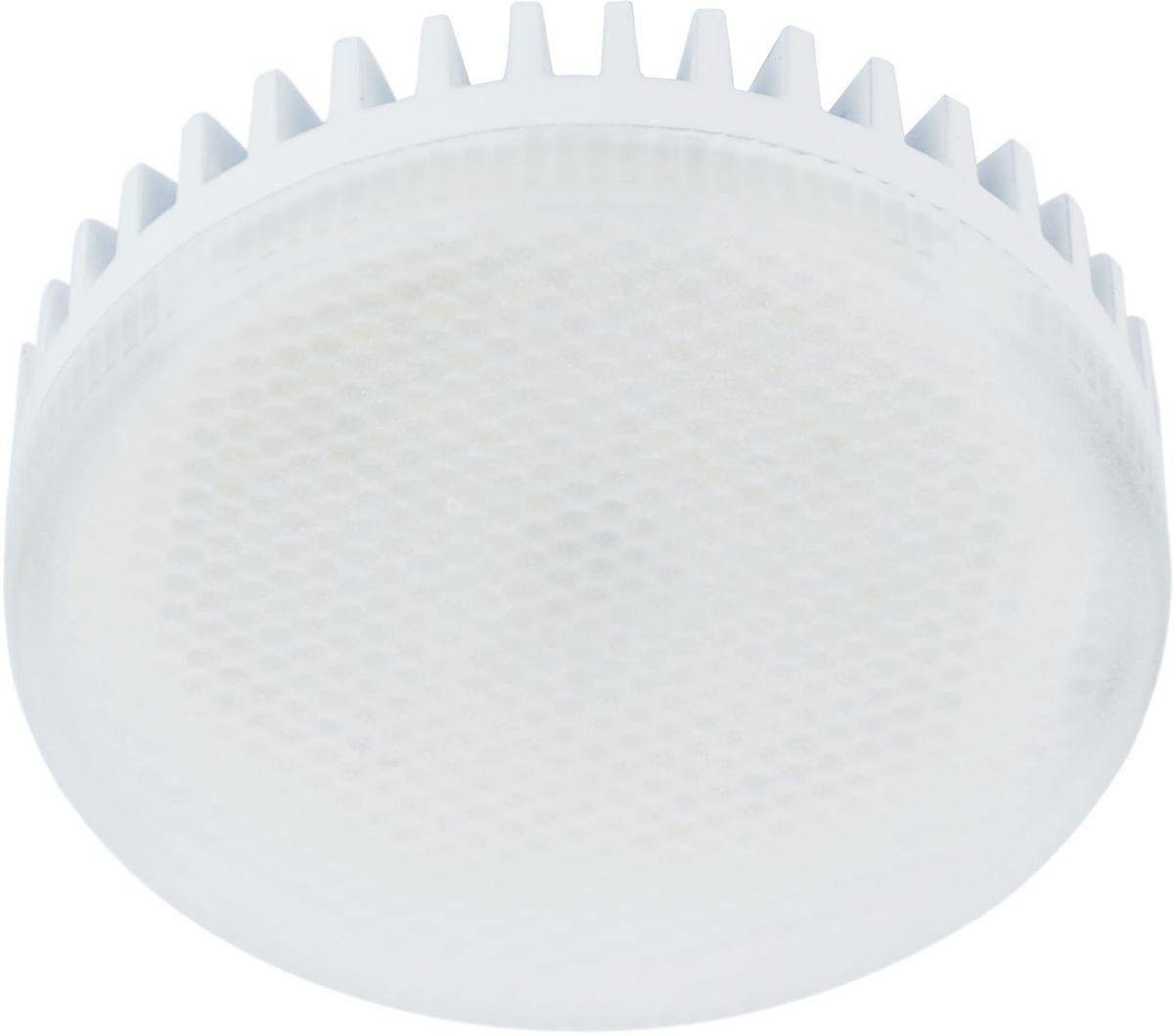 Лампа светодиодная REV, теплый свет, цоколь GX53, 8W32 9Энергосберегающая светодиодная лампа в форме шайба теплого свечения. Потребляемая мощность 8Вт. Интенсивность свечения аналогична обычной лампе накаливания мощностью 75Вт. Цоколь GX53. Срок службы 30000 час. Световой поток 640Лм, цветовая температура 3000К