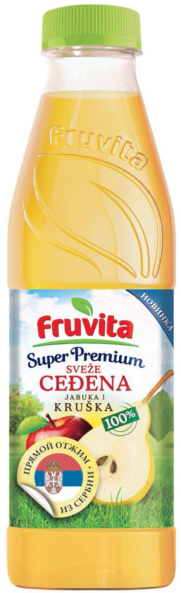 Fruvita Superpremium Из яблок и груш фруктовый сок прямого отжима, 750 мл8606107032689Соок прямого отжима