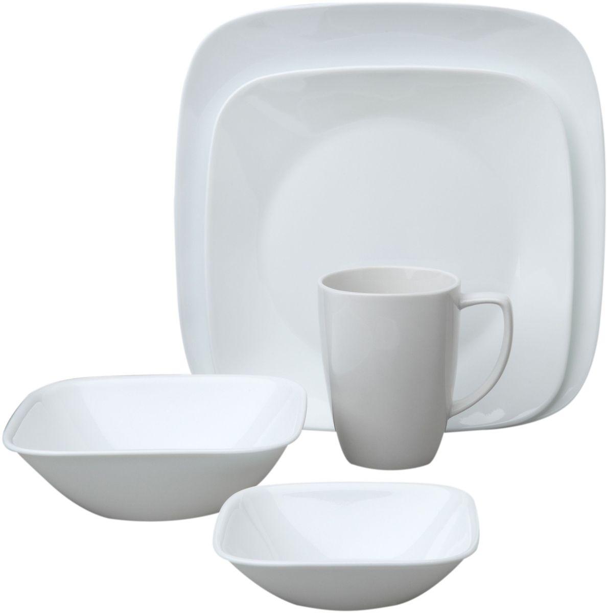 Набор столовой посуды Corelle Pure White, 16 предметов. 10699581069958Посуда Corelle мирового бренда WorldKitchen сделана из материала Vitrelle. Стекло Vitrelle является экологически чистым материалом без посторонних добавок. Идеальный белый цвет посуды достигается путем сверхвысокой термической обработки компонентов. Vitrelle сверхпрочный материал, используемый для столовой посуды, изобретенный в начале 1970х в Соединенных Штатах Америки. Материал сделан из трех слоев стекла спеченных вместе. Посуда Vitrelle тонка и легка при том, что является более ударопрочной по сравнению с обычной столовой посудой. Соль, полевой шпат, известняк, и 2 других вида соли попадают в печь, где при 1400 градусов Цельсия превращаются в жидкое стекло. Стекло заливается в молды, где соединяются 3 слоя в один. Края посуды обрабатываются огненной полировкой. Проходя через дополнительную обработку, три слоя приобретают сверхпрочность. Путем шелкографии на днище наносится бренд, а так же дополнительная информация. Узор на посуде так же наносится путем шелкографии. Готовая посуда...