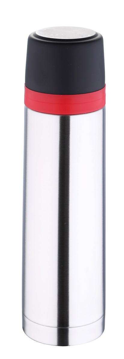 Термос Bergner, 500 мл. 5975 MM-BG5975 MM-BGТермос Bergner BG-5975MM серии Travel удобно использовать в любом путешествии. Объем термоса составляет 500 мл. Корпус изготовлен из высококачественной нержавеющей стали, которая позволяет долгое время сохранять напитки в горячем виде. Удобная пластиковая крышка герметично закрывает термос и хорошо сочетается по цвету с красным ободком на корпусе. Нескользящая резиновая вставка на дне надежно удерживает термос в вертикальном положении на любой гладкой поверхности.