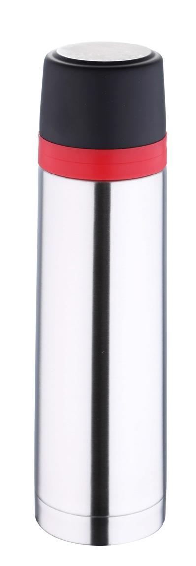 Термос Bergner, 1 л. 5977 MM-BG5977 MM-BGТермос Bergner BG-5977MM серии Travel удобно использовать в любом путешествии. Объем термоса составляет целых 1000 мл. Корпус изготовлен из высококачественной нержавеющей стали, которая позволяет долгое время сохранять напитки в горячем виде. Удобная пластиковая крышка герметично закрывает термос и хорошо сочетается по цвету с красным ободком на корпусе. Нескользящая резиновая вставка на дне надежно удерживает термос в вертикальном положении на любой гладкой поверхности.