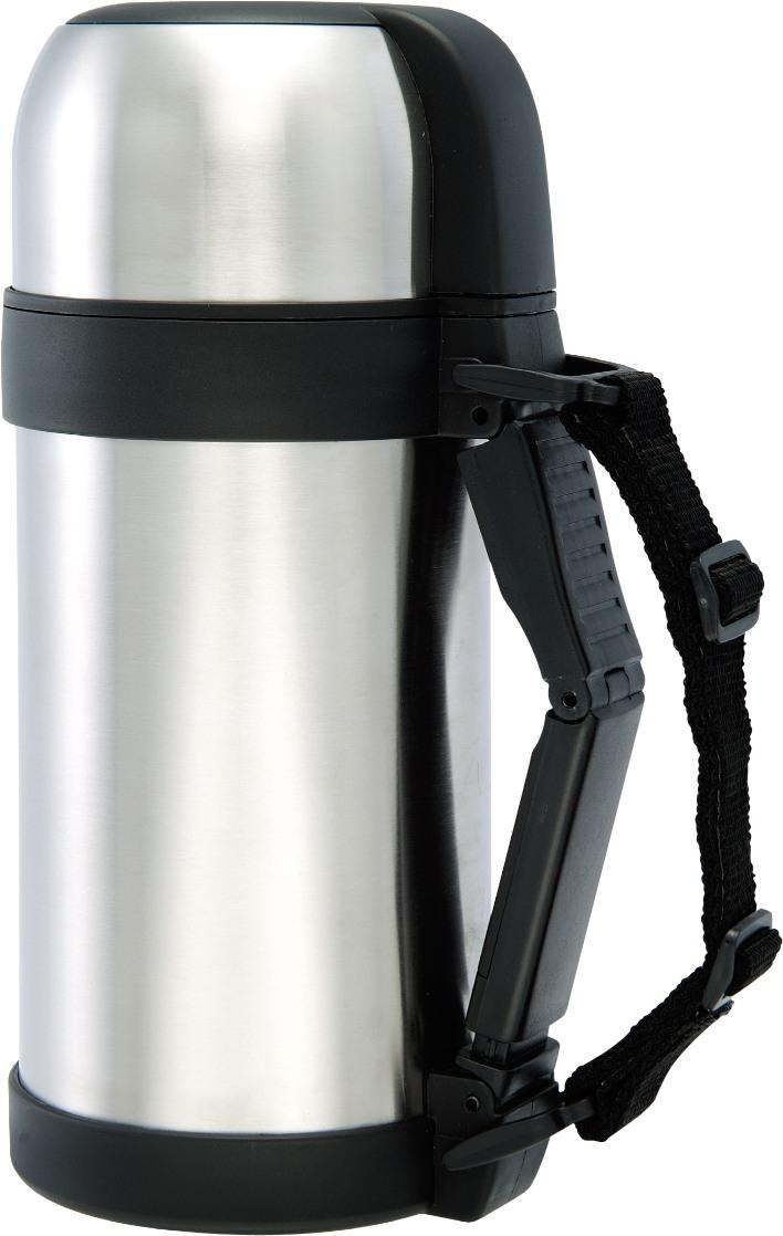 Термос Bergner, 1 л. 1487 BG1487 BGПищевой термос Bergner BG-1487 для еды и напитков изготовлен из высококачественной нержавеющей стали. Удобная пластмассовая ручка со съемными ремешками. Широкое горло плотно закрывается пробкой. Крышка легко заменит чашку. Термос полностью герметичен и прост в использовании, что позволяет надолго сохранить вашу пищу горячей в дороге, на пикнике, на работе и т.д. Объем термоса составляет 1 литр.