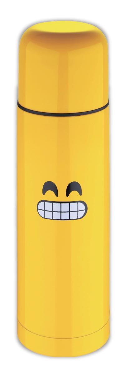 Термос Bergner, 750 мл. 7615 EW7615 EWЯрко-желтый термос Bergner EW-7615 не останется незамеченным в любой компании. Забавный смешной смайлик на корпусе вызовет улыбку и поднимет настроение даже в самый хмурый день. Термос выполнен из высококачественной нержавеющей стали. Термос емкостью 750 мл имеет герметичную крышку и прост в использовании. Пить горячие напитки из такого «веселого» термоса принесет одно удовольствие и сплошную пользу для организма.