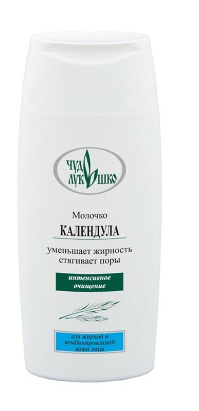 Чудо Лукошко Молочко Календула Для жирн/комбинир. кожи, интенсивное очищение, 220мл30102Косметическое молочко эффективно очищает кожу лица от загрязнений, жировых выделений и макияжа. Экстракты календулы и Подорожника содержат органические кислоты, витамины А, С, К, повышают сопротивляемость кожи, обладают противовоспалительным, антисептическим и успокаивающим действием, снимают раздражения, предотвращают появление новых воспалительных элементов, питают, очищают, восстанавливают кожу, повышают интенсивность обмена веществ. Лимон богат витаминами С, Р, эфирными маслами и фитоферментами, тонизирует, уменьшает жирность и стягивает поры.