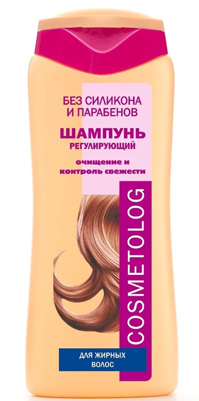 Чудо Лукошко Шампунь Регулирующий для жирных волос, Cosmetolog, 250мл360102Деликатный шампунь для волос, которые быстро становятся жирными. Сильный, но неагрессивный комплекс моющих компонентов бережно промывает кожу головы и волосы от кончиков до самых корней, не повреждая и не пересушивая их. Шампунь устраняет сальность и жирный блеск волос, способствует уменьшению перхоти, улучшает структуру волос. Кондиционирующий агент придает волосам пышность, облегчает расчесывание волос и укладку. Биорастворимая сера оказывает себорегулирующее действие. Молочная кислота мягко отшелушивает отмершие клетки, регенерирует и очищает кожу головы, нормализует эпителизацию в протоках сальных желез и в устьях волосяных фолликулов, снижает скорость засаливания волос. Волосы становятся ухоженными, хорошо сохраняют эффект чистой головы, укладка дольше держит форму.
