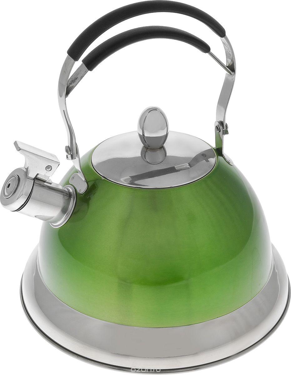 Чайник Mayer & Boch, со свистком, 3 л. 2320423204Чайник Mayer & Boch выполнен из высококачественной нержавеющей стали, что делает его весьма гигиеничным и устойчивым к износу при длительном использовании. Носик чайника оснащен насадкой-свистком, что позволит вам контролировать процесс подогрева или кипячения воды. Подвижная ручка с силиконовой насадкой дает дополнительное удобство при разлитии напитка. Поверхность чайника гладкая, что облегчает уход за ним. Эстетичный и функциональный, с эксклюзивным дизайном, чайник будет оригинально смотреться в любом интерьере. Подходит для всех типов плит, включая индукционные. Можно мыть в посудомоечной машине. Высота чайника (без учета ручки и крышки): 13 см. Высота чайника (с учетом ручки и крышки): 28 см. Диаметр чайника (по верхнему краю): 10 см.