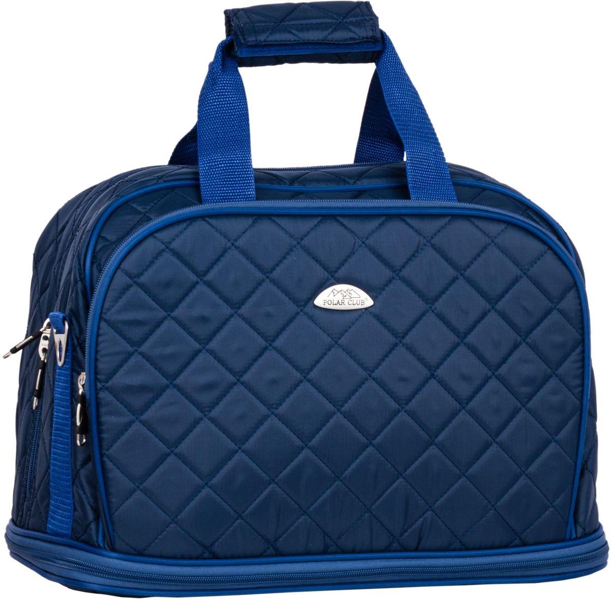 Сумка дорожная Polar Стежка, цвет: синий, 29 л, 30+(13) х 40 х 24 см. П7079П7079Дорожная сумка Polar. Имеется съемный плечевой ремень, что бы носить сумку через плечо. Одно большое отделение для ваших вещей. Увеличивается в длину на 13 см. Два кармана спереди сумки на молнии. Высота ручек 17 см.