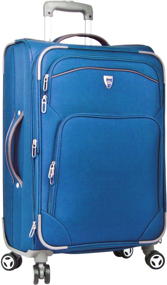 Чемодан мягкий Polar, цвет: синий, 55,5 л (24), 58 х 40 х 24 (+5) см. Р4102Р4102 (2-й) 24Супер-легкий Чемодан Polar. Основное отделение на подкладке из нейлона имеет фиксирующие ремни. Выдвигающаяся ручка выдвигается на 40 см, расположена внутри корпуса чемодана, что способствует большей прочности и защите от ударов при разгрузке/погрузке чемодана. Снаружи на передней стенке — два больших кармана на молнии. Надежные четыре колеса на подшипниках, вращаются на 360° градусов. Кодовый замок в комплекте не идет. Можно отдельно приобрести кодовый навесной замок.