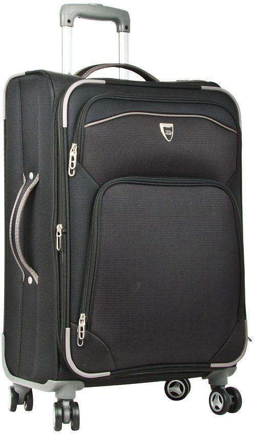 Чемодан мягкий Polar, цвет: черный, 55,5 л (24), 58 х 40 х 24 (+5) см. Р4102Р4102 (2-й) 24Супер-легкий Чемодан Polar. Основное отделение на подкладке из нейлона имеет фиксирующие ремни. Выдвигающаяся ручка выдвигается на 40 см, расположена внутри корпуса чемодана, что способствует большей прочности и защите от ударов при разгрузке/погрузке чемодана. Снаружи на передней стенке — два больших кармана на молнии. Надежные четыре колеса на подшипниках, вращаются на 360° градусов. Кодовый замок в комплекте не идет. Можно отдельно приобрести кодовый навесной замок.