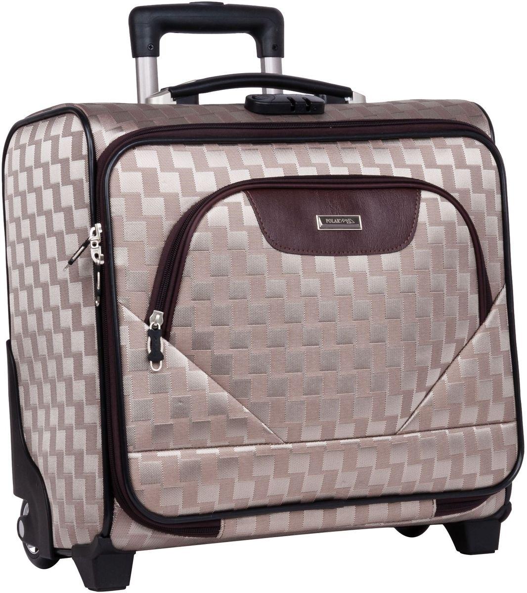 Чемодан-пилот Polar, цвет: золотой, 32,5 л, 40 х 43 х 19 см. П7076П7076Новый Модный кейс-Пилот на надежных колесах с подшипниками и прочной выдвижной тележкой подойдет как ручная кладь во все Авиакомпании (в том числе Лоукостеры) и поездку в командировку. Наши чемоданы отлично подходят для перевозки хрупких вещей. Пластик отлично защищает внутреннее содержание от любых внешних воздействий. Выдвижная металлическая ручка, выдвигается на 62 см. Внутренняя тележка. Внутри: фиксаторы зажимы для Ваших вещей. Также предусмотрен кодовый замок. Эта универсальная модель идеально подойдет для краткосрочных командировок и позволит вам взять с собой, помимо ноутбука, еще и все самые необходимые для Вас вещи
