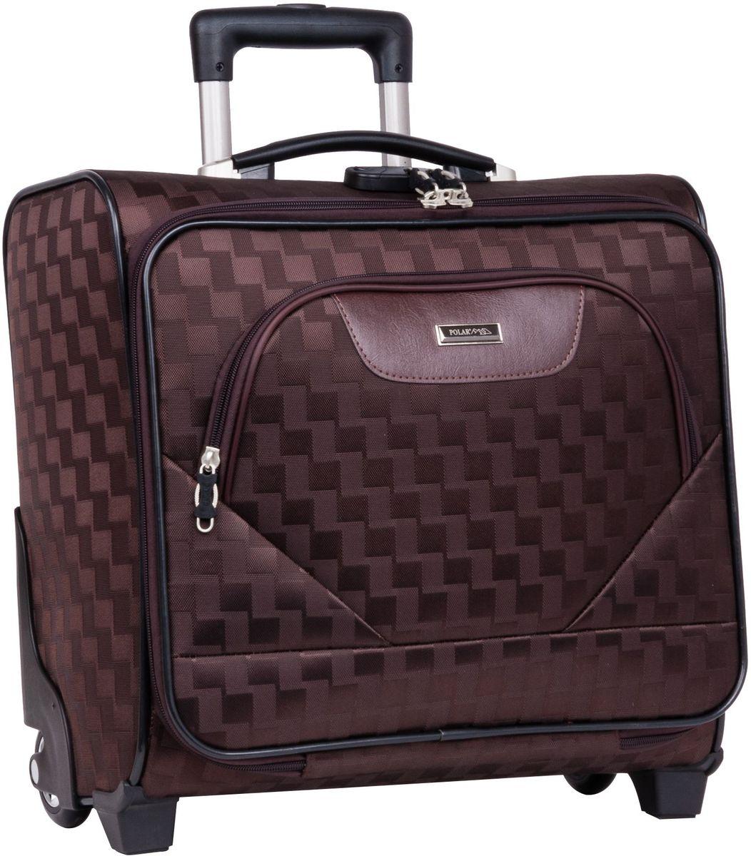 Чемодан-пилот Polar, цвет: коричневый, 32,5 л, 40 х 43 х 19 см. П7076П7076Новый Модный кейс-Пилот на надежных колесах с подшипниками и прочной выдвижной тележкой подойдет как ручная кладь во все Авиакомпании (в том числе Лоукостеры) и поездку в командировку. Наши чемоданы отлично подходят для перевозки хрупких вещей. Пластик отлично защищает внутреннее содержание от любых внешних воздействий. Выдвижная металлическая ручка, выдвигается на 62 см. Внутренняя тележка. Внутри: фиксаторы зажимы для Ваших вещей. Также предусмотрен кодовый замок. Эта универсальная модель идеально подойдет для краткосрочных командировок и позволит вам взять с собой, помимо ноутбука, еще и все самые необходимые для Вас вещи