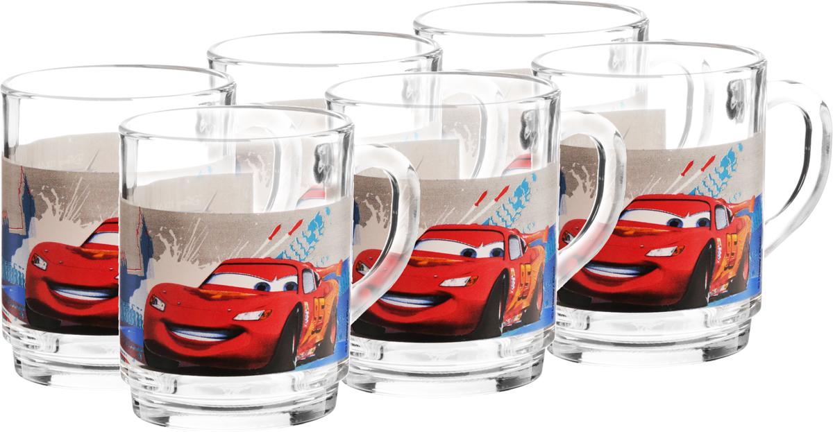 Набор кружек Luminarc Disney Cars 2, 250 мл, 6 штL2131Набор Luminarc Disney Cars 2 состоит из 6 кружек, выполненных из стекла. Изделия декорированы изображением Молнии МакКуин. Такой набор кружек станет изысканным украшением стола к чаепитию и порадует вас и ваших гостей оригинальным дизайном и качеством исполнения. Набор прекрасно подойдет в качестве подарка к любому случаю. Диаметр кружки (по верхнему краю): 7 см. Высота кружки: 9 см.