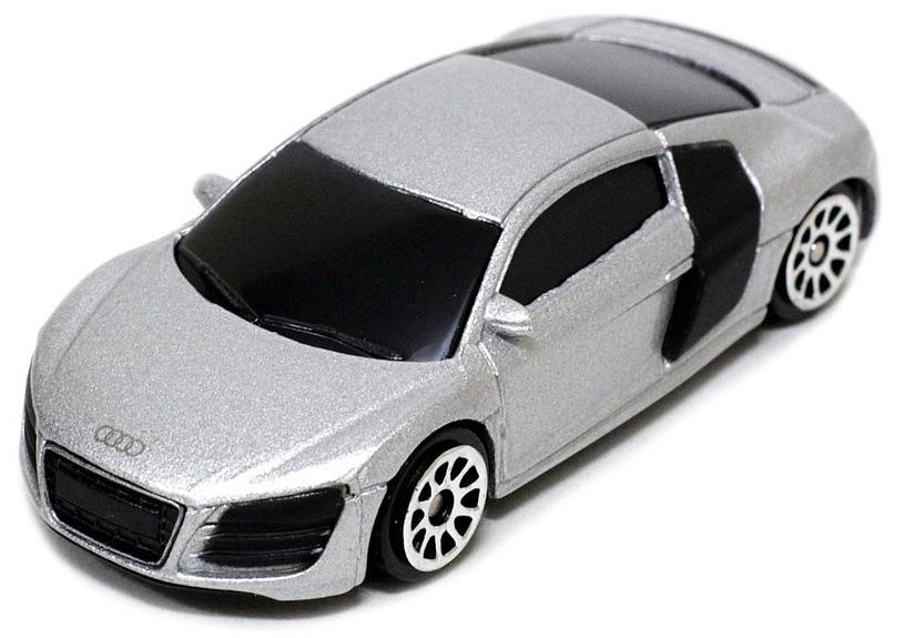 Pitstop Модель автомобиля Audi R8 V10 цвет серый масштаб 1/64
