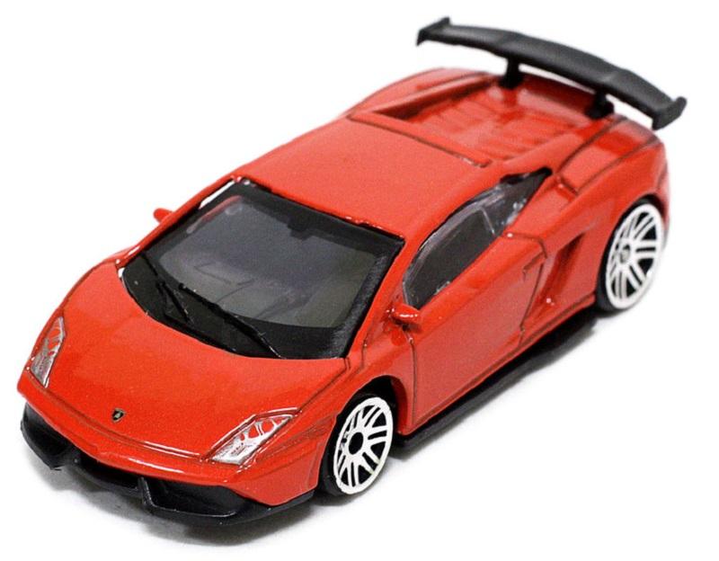 Pitstop Модель автомобиля Lamborghini LP570-4 Super Trofeo Stradale цвет красный масштаб 1/64