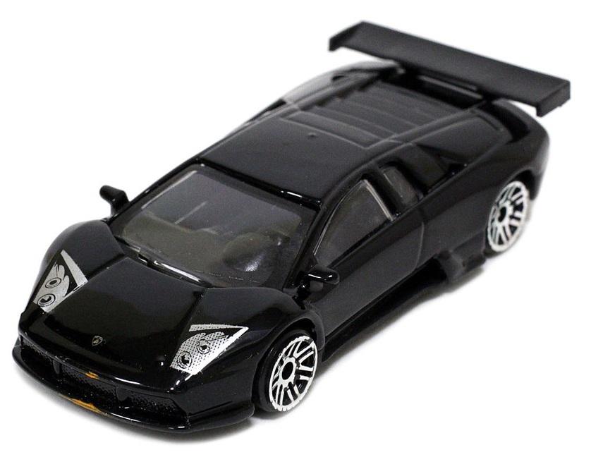 Pitstop Модель автомобиля Lamborghini Murcielago R-GT цвет черный масштаб 1/64