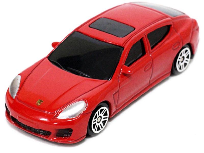 Pitstop Модель автомобиля Porsche Panamera Turbo цвет красный масштаб 1/64