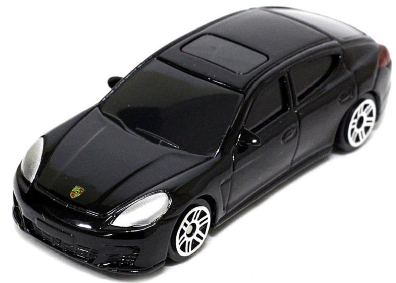 Pitstop Модель автомобиля Porsche Panamera Turbo цвет черный масштаб 1/64