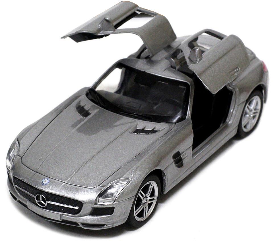 Pitstop Машинка инерционная Mercedes-Benz SLS AMG цвет серебристый PS-0616307-S