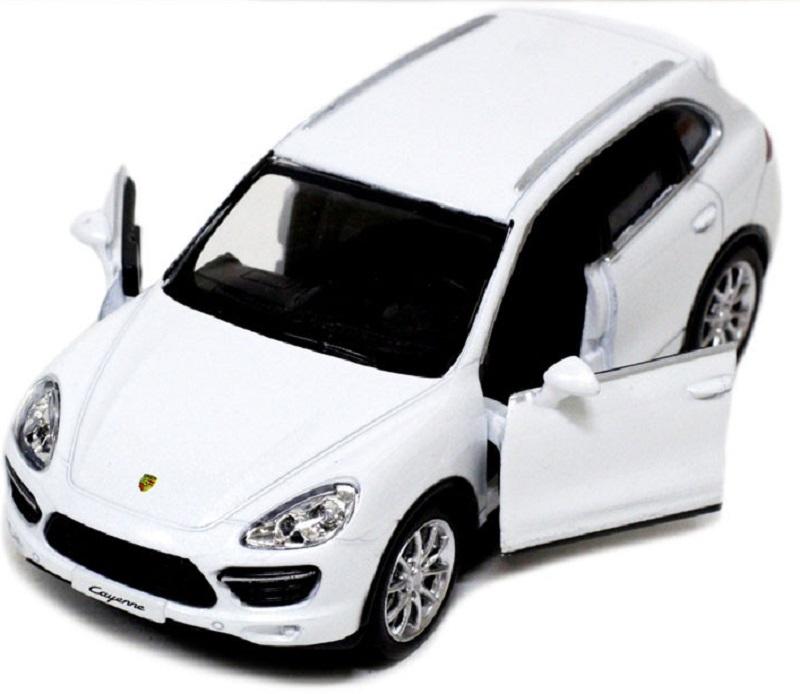 Pitstop Машинка инерционная Porsche Cayenne Turbo цвет белый масштаб 1/32 PS-554014-W