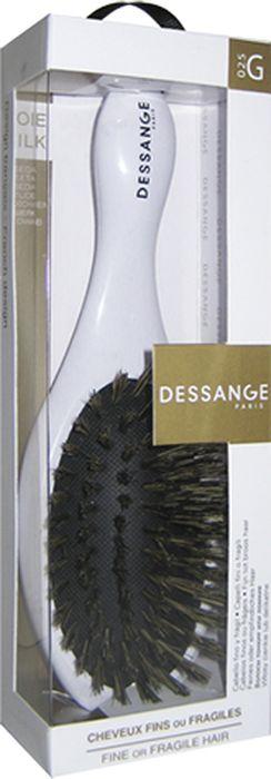 Щетка массажная Dessange с щетиной из натурального шелка956025Массажная щетка Dessange с щетиной из пластика с элементами из натурального шелка прекрасно подойдет для деликатного расчесывания и выпрямления тонких и ломких волос. Идеально отшлифованные кончики щетинок не царапают кожу головы и исключают травмирование волос. Пластик из которого изготовлена щетка безопасен в использовании, высокоустойчив к истиранию и механическим воздействиям. Компактные размеры щетки позволяют ей уместится практически в любой дамской сумочке. Характеристики: Материал: пластик с элементами из шелка. Размер щетки: 17 см х 5,5 см х 3,5 см. Размер рабочей поверхности щетки: 4,5 см х 8 см. Жесткость щетины: Doux Soft. Размер упаковки: 20 см х 6 см х 4 см. Производитель: Франция. Изготовитель: Корея. Артикул: 656125.