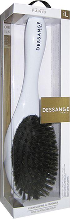 Dessange Щетка массажная, с щетиной из натурального шелка, для тонких и ломких волос, цвет: черный956025_черныйМассажная щетка Dessange с щетиной из натурального шелка прекрасно подойдет для деликатного расчесывания и выпрямления тонких и ломких волос. Идеально отшлифованные кончики щетинок не царапают кожу головы и исключают травмирование волос. Пластик, из которого изготовлена щетка, безопасен в использовании, высокоустойчив к истиранию и механическим воздействиям. Компактные размеры щетки позволяют ей уместится практически в любой дамской сумочке. Размер рабочей поверхности щетки: 9 см х 5,5 см. Товар сертифицирован.