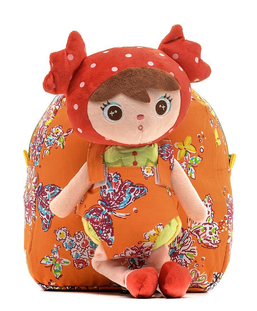Рюкзак для девочки Vitacci, цвет: оранжевый. 24028-1524028-15Рюкзак детский Vitacci выполнен из текстиля. Модель с одним отделением застегивается на молнию. Передняя стенка декорирована плюшевой куклой. Внутри имеется накладной карман. Плечевые лямки регулируются по длине.